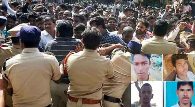 हैदराबाद रेप, मर्डर मामले में 3 पुलिसकर्मी निलंबित
